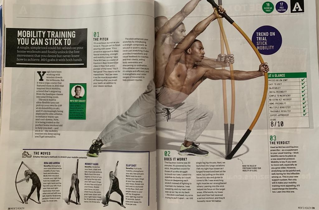 Stick Mobility features in Septembers Mens Health
